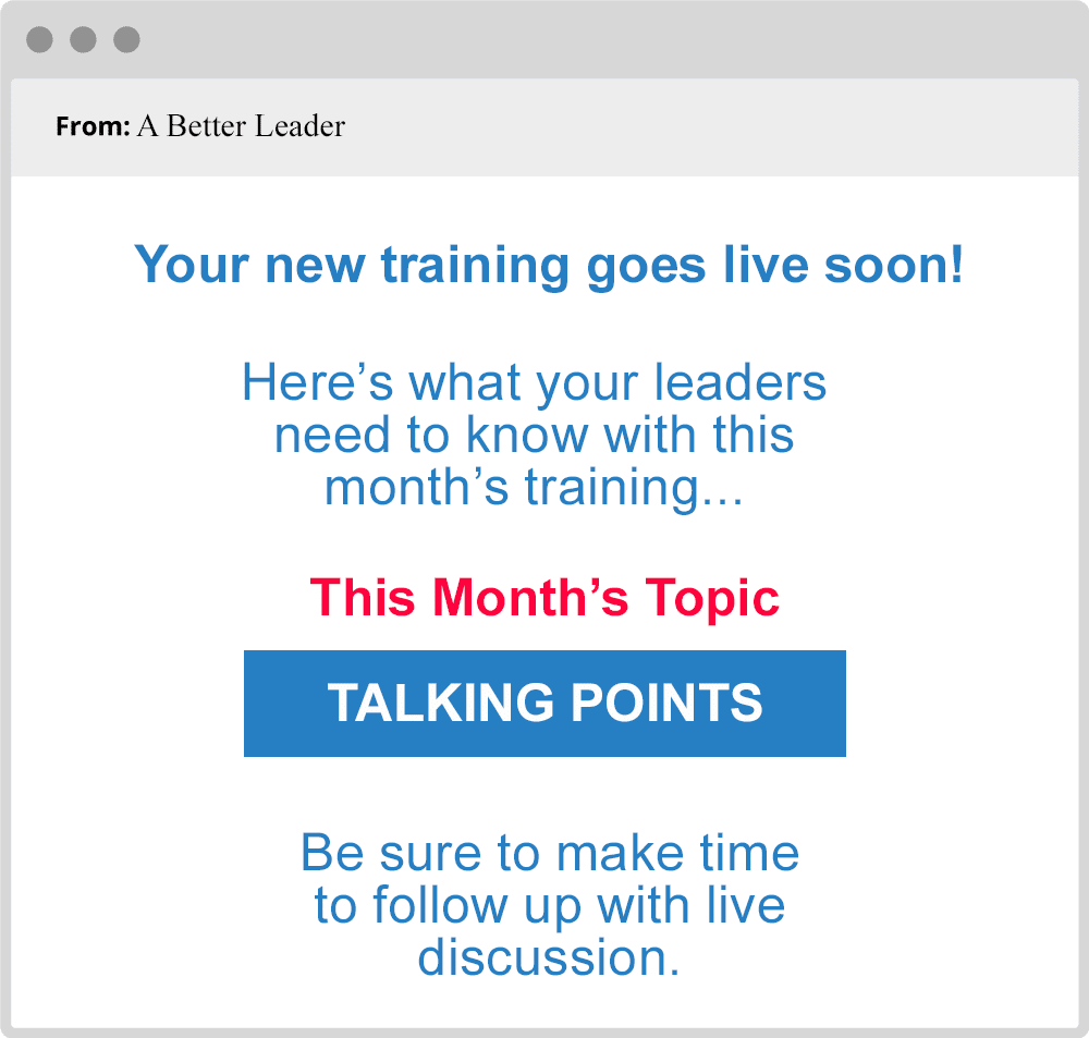 a better leader email